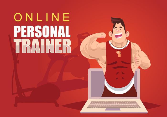 online-personal-trainer-vector